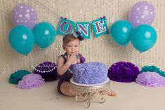 ONE banner First birthday cake smash banner you can CHOOSE YOUR colors, purple sea foam and gold, purple teal and silver Birthday Cake Smash, First Birthday Cakes, Baby Birthday, 1st Birthday Parties, Birthday Ideas, Birthday Gifts, Tutu Outfits, Diy Photo Backdrop, Birthday Photography