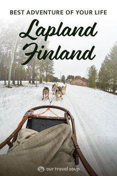 Lapland Finland is way up in the magical arctic circle. In this guide you'll find a winter adventure filled with husky sledding, aurora hunting, snowmobiling and more! You'll also stay in a cozy and beautiful wilderness lodge in Nellim Finland. This is a bucket listers dream! #finland #aurora #winter #adventuretravel #wanderlust #scandinavian #huskies #wilderness #snowmobile #arctic
