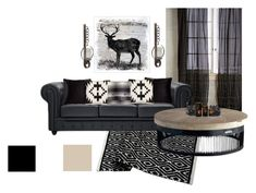 """Black Rustic"" by kelly-totty on Polyvore featuring interior, interiors, interior design, home, home decor, interior decorating, Anthropologie, U.S. Pride Furniture, BIVAIN and Pendleton"