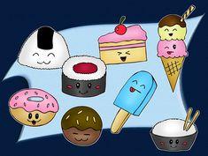 Cute food by ~sthephanymel on deviantART