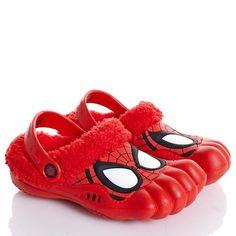 Marvel Ultimate Spider-Man Clogs w/Faux Fur Toddler Size M 7/8  #Marvel #Clogs