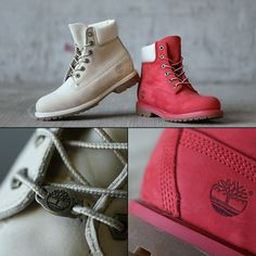 #culturekings #streetwear #fashion #timberlands #womens #coral #white #footwear