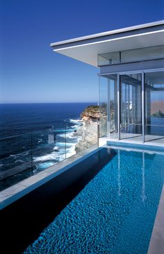 pool house with ocean view