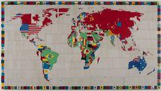 MapCarte 310/365: Mappa by Alighiero Boetti, 1971-1994 | Commission on Map Design
