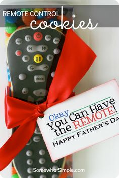 Father's Day Remote Control Cookies. These are so cute! And you can never go wrong with cookies.
