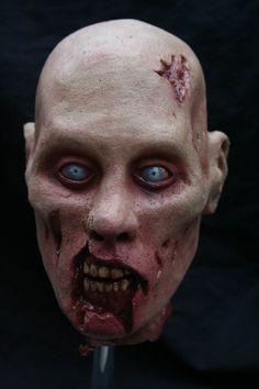 latex zombie head