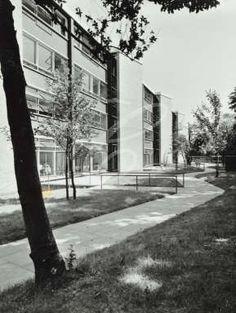 Holland Park School: exterior 1960 Holland Park, Old London, My Town, Childhood Memories, Exterior, Architecture, School, Nostalgia, Collage