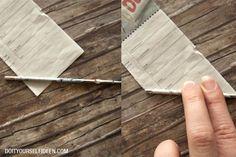 I➨ Stapelt sich zu Hause schon das Altpapier? Upcycle it!! Hier findest du eine Anleitung für einen Korb aus Zeitungspapier. Diy And Crafts, Paper Basket, Tutorials, Hand Crafts, School, Projects