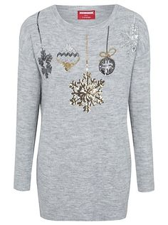 Choose from a wide range of Christmas gifts, perfect for all the family. Cute Christmas Jumpers, Christmas Shopping, Christmas Time, Asda, Bauble, Knitwear, Sequins, Graphic Sweatshirt, Tunic