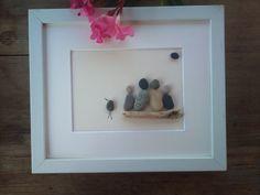Guijarro+arte+familia+4+regalo+de+la+familia+por+pebbleartSmiljana