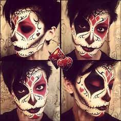Harley Quinn Sugar Skull Makeup