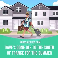 """""""Go off to"""" means """"to leave a place and go somewhere else"""". Example: Dave's gone off to the south of France for the summer."""
