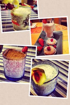 Smoothies with fruits!!