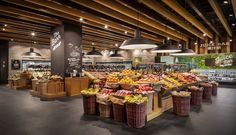 Retail store design, visual merchandising, design furniture, fruit shop, re Design Food, Food Retail, Fruit Shop, Retail Store Design, Shop Interior Design, Design Furniture, Visual Merchandising, Stores, Grocery Store