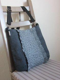 Čierno-šeda kabelka