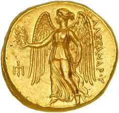 Nike is represented on many greek coins