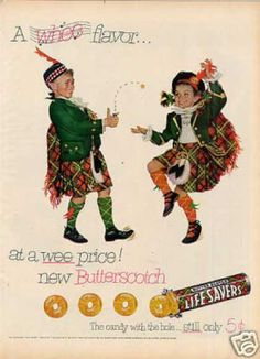 Life Savers Butter Scotch Candy (1952)