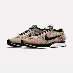 A double rainbow for your feet.  The Nike Flyknit Racer drops this 9am CEST. #flyknitfriday #nike #nikeracer #sneakernews #sneakers #kicksonfire #kicks #sneakerando #flyknit #sneakers #sneakernews