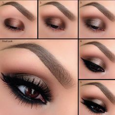"""#ShareIG We have another BEAUTIFUL tutorial by Motives Maven @elymarino using Motives Mavens Element Color Box – one of our BRAND NEW palettes! Details: 1. Apply """"Truffle"""" to the inner and outer corner of the eyelids. 2. Blend """"Native"""" into the crease to defuse any harsh lines. 3. Apply """"Shell"""" to the center of the lid and blend the edges on each side where it meets the darker color. 4. Line eye with Motives Gel Eyeliner in """"Little Black Dress."""" Blend """"Raven"""" underneath the lower lash line…"""