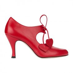 RAQUEL RED NAPPA Heart Shapes, Stiletto Heels, Kitten Heels, Pumps, Red, Leather, Detail, Fashion, Moda