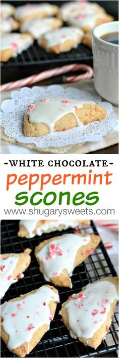 White Chocolate Peppermint Scones are the perfect pair to your morning coffee. Happy Holidays!