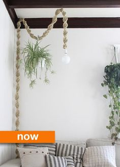 Then & Now: DIY Macrame Lamps: Dr. Y. would be so pleased this has come back in style!
