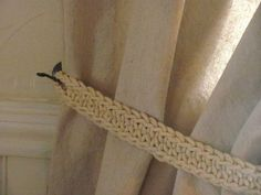 crochet curtain tie backs