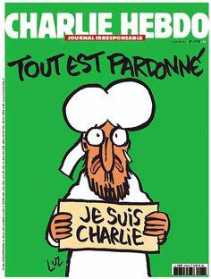 """Primeira capa do """"Charlie Hebdo"""" após ataque traz Maomé chorando.  Foto: Divulgação"""
