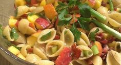 Georgia Peach Pasta Salad Recipe... A great side for your next backyard BBQ!