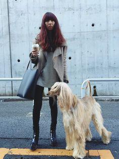大田由香梨さんのテーラードジャケット「ACNE 」を使ったコーディネート