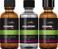 LATEST Liquid FACELIFT 3oz Vitamin C, Hyaluronic Acid, Retinol Serum Triple Treatment PROVEN All-Natural Anti-Wrinkle, Anti-Aging, Collagen-Building Cream Formula by PureAmore *** More info could be found at the image url. (Note:Amazon affiliate link)