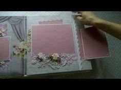 Скрапбукинг Альбом для мальчика - Baby boy scrapbook album - YouTube