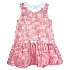 Sweet Sugar Dot Bow Dress Size 3T-6T – Coral Forest