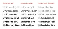Uniform™ - Webfont & Desktop font « MyFonts
