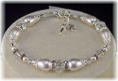 @HisJewelsCreations by Sheri Cleary New w/Swarovski Pearl/Crystal Bracelet  #Beaded