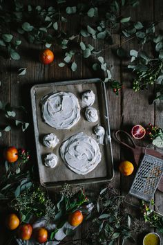 Orange & Olive Oil Curd Meringue Stack by Eva Kosmas Flores | Adventures in Cooking