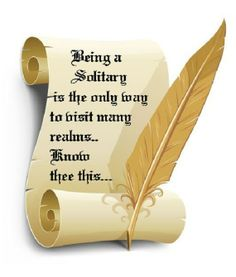 Being a Solitary is the only way to visit many realms