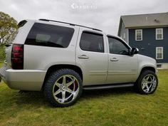 This 2011 Chevrolet Tahoe is running Hostile Venom wheels Nitto Ridge Grappler tires with Stock Stock suspension. Chevrolet Tahoe, Chevrolet Silverado, Nitto Ridge Grappler, Tahoe Lt, Tyre Fitting, Wheels And Tires, Chevy Trucks, Venom, Transportation