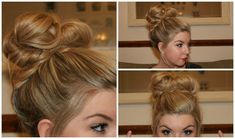 How To: Simple Messy Bun Tutorial! I finally got a cute, messy bun on the first try!