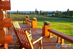 Riverbend Log Homes call 1(800)561-3000 or visit us at www.riverbendloghomes.com Outdoor Chairs, Outdoor Furniture Sets, Outdoor Decor, White Cedar, Log Homes, Ideal Home, Condo, Vacation, House