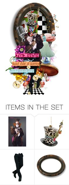 """David Bowie  - Mad Like a Hatter"" by girlyideas ❤ liked on Polyvore featuring art"