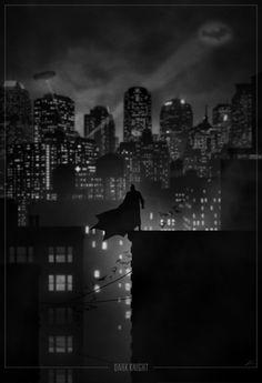 Superhero Noir Alternate Movie Posters by Marko Manev
