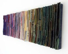 Colorfield Tapestry / Abstract Textile Art by TexturesGallery