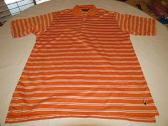 Mens Bobby Jones Players L short sleeve polo shirt casual striped **spot**EUC@ #BobbyJones #PoloRugby