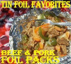 Easy hamburger foil pack camping meal ideas - Hobo tin foil dinner