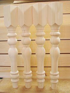 "Custom pine table legs. 3 1/2"" x 29""."
