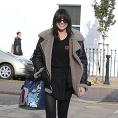 Daisy Lowe leaves her North London home all smiles
