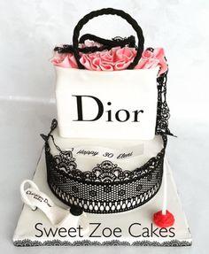 Shopping Bag Dior Cake by Dimitra Mylona - Sweet Zoe Cakes