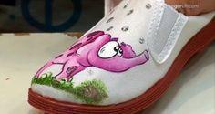Pintar zapatillas de tela