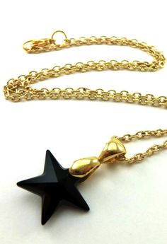 Black Star Necklace. This would go great with a gold or black dress.